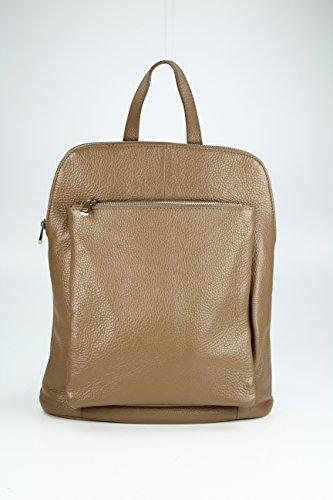 Backpack Seattle ital. Leder Rucksack Handtasche Cross Body Bag 3in1 - Farbauswahl - 29x32x11 cm (B x H x T) (Schwarz) Belli 4PW6UDut