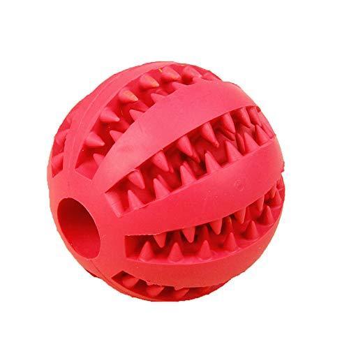 SONGYANG Haustier Hund Spielzeug sauber Zahnkugel Großhandel Teddy Welpen Dekompression elastischen Gummiball Hundespielzeug Haustierspielzeug,Red -