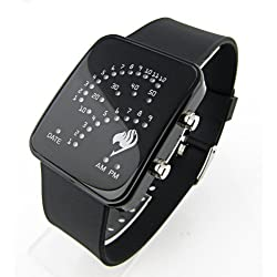 Fairy tail watch Blue Light Fan-shaped LED Watch