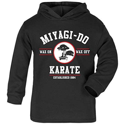 Cloud City 7 Miyagi Do Karate Kid Wax On Wax Off Baby and Kids Hooded ()