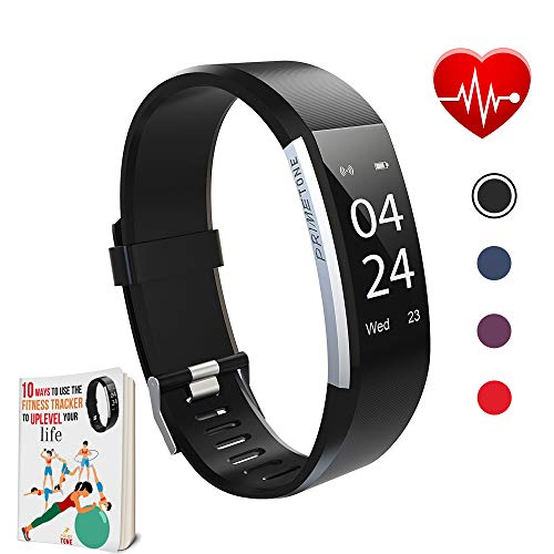 41lvFbnTzRL. SS500  - Prime Tone Fitness Watch with Step Counter | Smart Watches with Activity Trackers and Pedometers to Monitor Calories Burned, Steps and Sleep | Sweat-Proof Wristband Digital Tracker for Adults and Kids