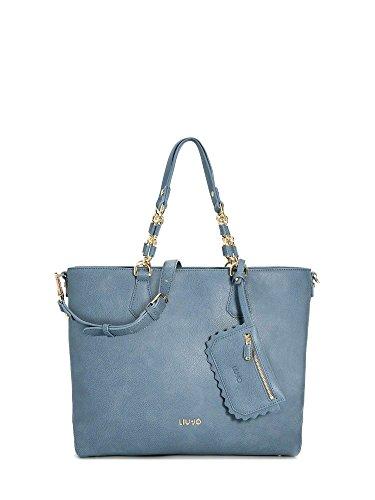 LIU JO DETROIT SHOPPING BAG A18003E0027 Blu