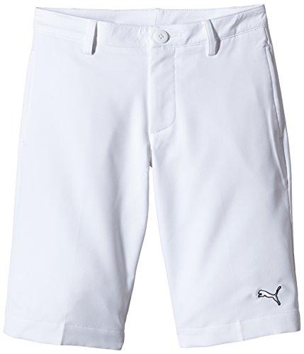 Puma Golf Tech Kinder Shorts 12 Jahre weiß - weiß