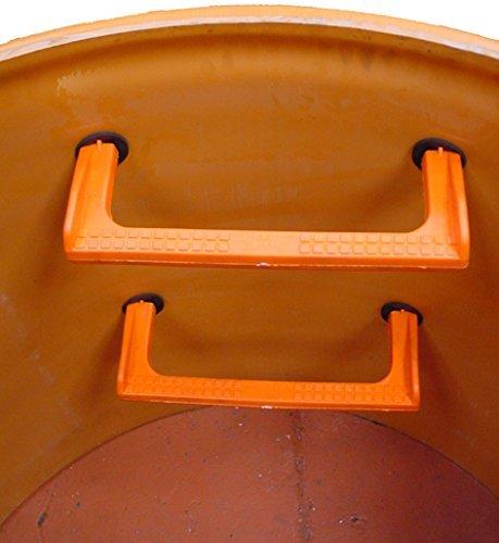 Pate Sugar - Steigbügel Polypropylen für gruben inspektion, Reservoirs, Kläranlagen, Schächte, Behälter und engen Räumen (INOX) (20)