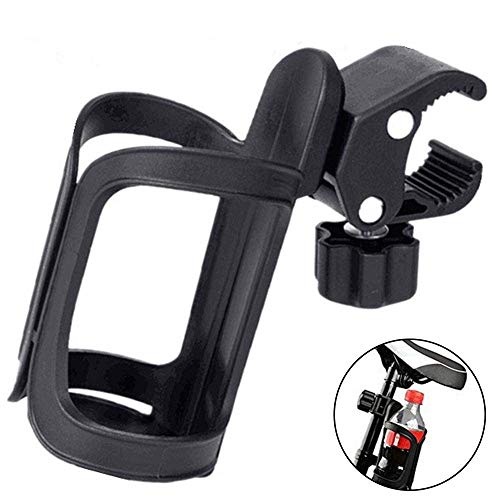 EUYOUZI Bike Bottle Holder Cages, Adjustable Bike Cup Holder Bicycle Drink Rack Clip for Bike MTB Bicycle Stroller Motorcycle Boats and Wheelchair, Lightweight & Portable, No Tools Required (1 Pcs) -