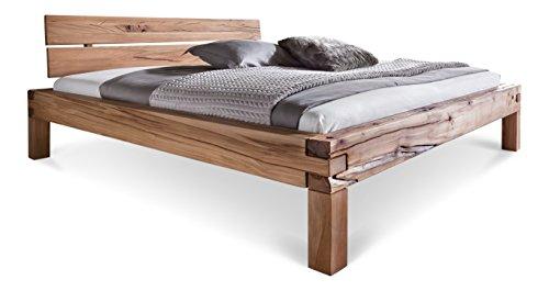 massivholzbett balkenbett doppelbett in kernbuche. Black Bedroom Furniture Sets. Home Design Ideas