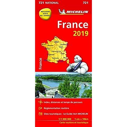 Carte France Michelin 2019