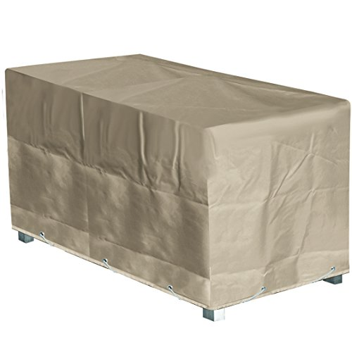 Housse de protection Table de Jardin Rectangulaire Haute qualité polyester L 180 x l 110 x h 70 cm Couleur beige