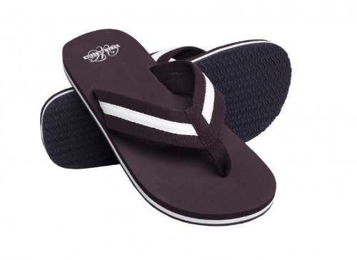 Urban Classics Sandalen/Zehentrenner Beach Slippers TB304 Brown/White