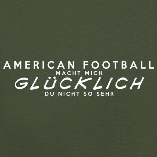 American Football macht mich glücklich - Herren T-Shirt - 13 Farben Olivgrün