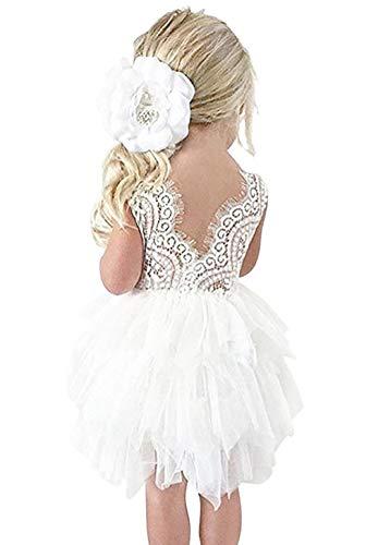 en Kleid Taufe Kleid Kind Mädchen Pailletten-Kleid mit Schleife-Deco Mädchen 0-5 Jahre ()