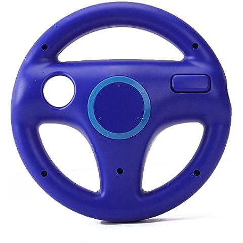 Volante Mario Kart Carreras Video Juegos Para Nintendo Wii Azul Steering Wheel