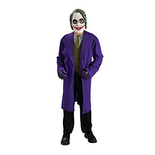 Joker Masken Batman (Batman The Dark Knight - Joker Kostüm für Kinder, 2 teilig, Jacke und Maske -)