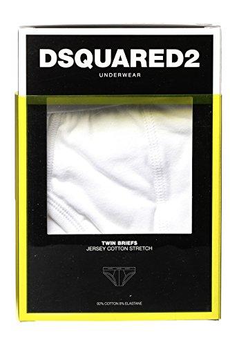 Dsquared² Classic Knit Herren Unterwäsche Slip JERSEY COTTON STRETCH Weiß