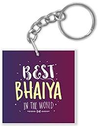 Yaya Cafe Birthday Bhaidooj Gifts for Brother Best Bhaiya in The World Keychain Keyring