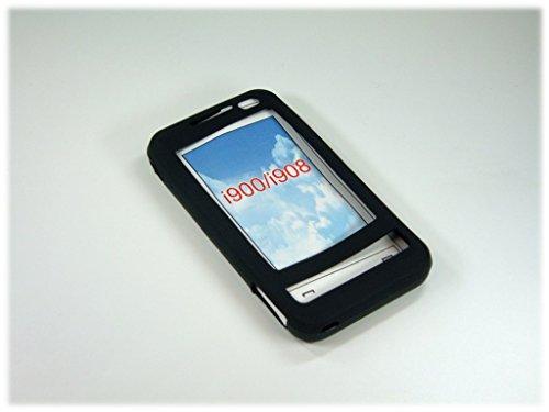 Silicon Cover/Silikon Tasche/Silikontasche/Case für SAMSUNG SGH-i900/i908 Omnia in schwarz Samsung I900 Silicone Case