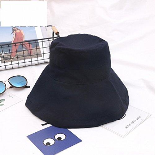 Hut Weiblichen Sommer Falten Anti-uv-tuch Hut Japanischen Sonnenhut Sonnencreme Fischer Hut Weiblichen Traufe Sonnenhut,Marine (20er Jahre Kostüme Für Paare)