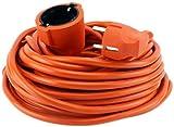 Stromkabel 30 Meter, Verlängerungskabel Gummiert orange Außen/Innen GYD