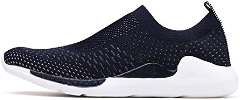Laufende Schuhe der Männer athletischer Trainer Sports Gym stricken Schuhe leichte Breathable Sportschuhe