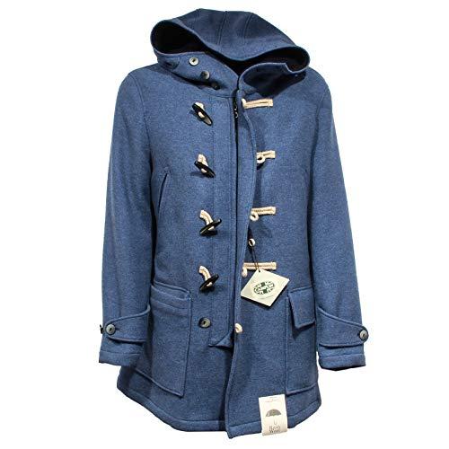 CAMPLIN F9118 Giaccone Uomo Overcoat Blue rain Wool Jacket Man [54] Atlantic Zip Jacket