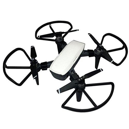 Brandschutz-kit (Für DJI Spark Drone Zubehör , Ouneed 4 Stück Propeller Guards + 4Pcs Landing Gear Bein Schutz Kit für DJI Spark Drone (Schwarz))