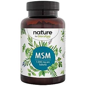 MSM + Vitamin C Natürlich (Acerola) – 365 vegane Tabletten – 2000mg MSM (Methylsulfonylmethan) pro Tagesdosis – Extra hochdosiert – Laborgeprüft ohne Zusätze hergestellt in Deutschland