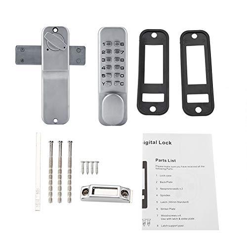 Serratura della porta di ingresso senza chiave meccanica combinazione di tastiera con codice digitale maniglia di zinco maniglia porte password per porta d'ingresso porte esterne casa e ufficio