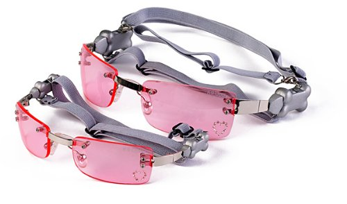 Artikelbild: Doggles Hunde Doggles K9 Optix Sonnenbrille pinkt mit Gravur (Kopfband 30,5-51cm, Kinnband 10-20cm)