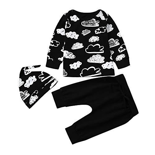 c626102d7 BaZhaHei Bebé Niña Niño Recién Nacido bebé niña niño niña Nube Camiseta  Impresa Tops + Pantalones ...