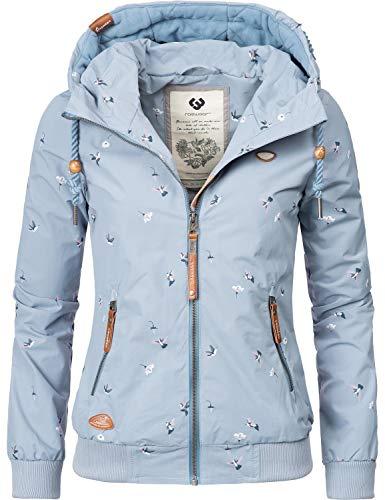 Ragwear Damen Übergangsjacke Regenjacke Nuggie Birds Blau Gr. M