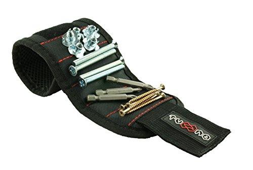 bracelet magn tique avec 5 aimants puissant pour retenir vis clous forets cadeau unique pour. Black Bedroom Furniture Sets. Home Design Ideas