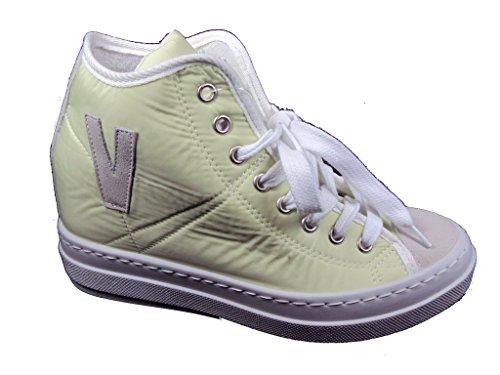 KIOSS 30005 - Sneaker donna con Zeppa interna, Colore Verde, Taglia: 38