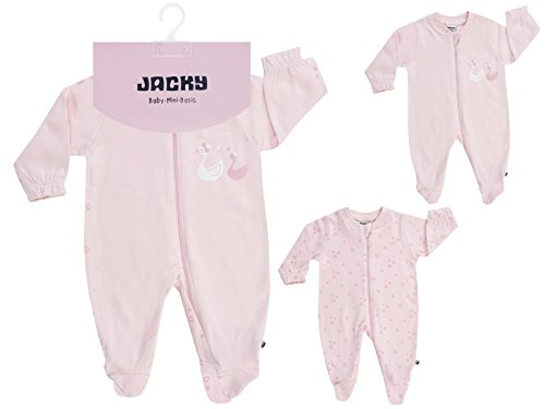 Jacky Baby Schlafanzug Schlafstrampler 1tlg. 2er-Pack LITTLE SWAN (74/80, pink)