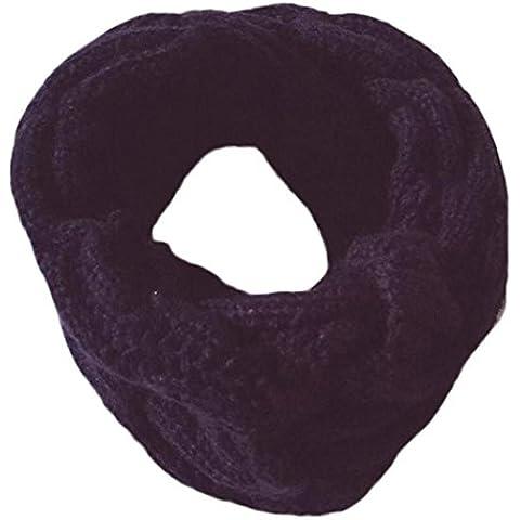 Koly Otoño invierno niños niñas Cannabis O anillo cuello mantenga caliente bufandas babero (Armada)