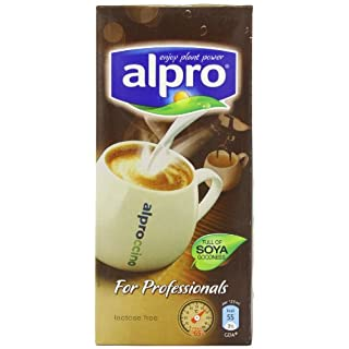 Alpro Soya Milk for Professionals 1 Litre (Pack of 12) - Dairy Free alternative perfect for hot drinks