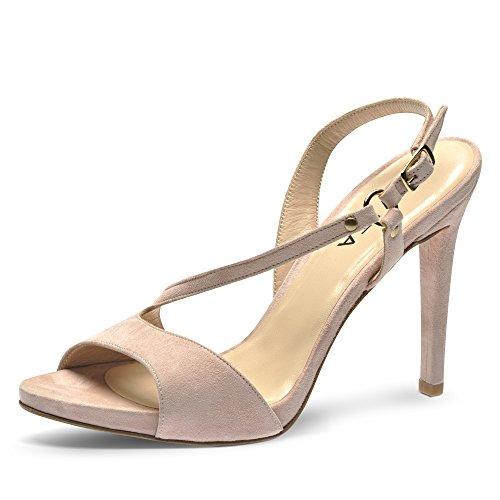 RAMONA sandales femme daim Rose