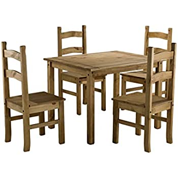 Coba Mexican Dining Set Table Amp 4 Chairs Amazon Co Uk