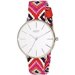 Axcent of Scandinavia Damen-Armbanduhr Inka Analog Quarz Mehrfarbig IX44804-635