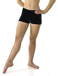 Azul marino suave terciopelo modernillo cortos para baile/gimnasia Azul azul Talla:9-10 años