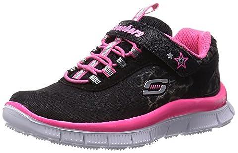 Skechers Appeal Super Safari, Sneakers Basses fille, Noir (Noir/Rose), 29 EU (11.5 UK)