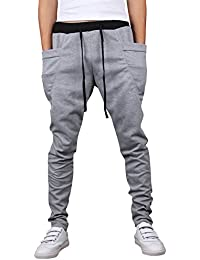 LaoZan Los Hombres Pantalones De Chándal Deporte Pantalones Pantalones De Chándal  Aptitud Sweatpants De Entrenamiento Rucio 27b743f709b8