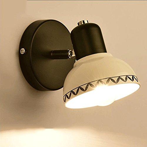 Bideng Keramik Wandleuchte LED Spiegel Scheinwerfer Bad WC Bad Schminktisch Schminkspiegel Schrank Spiegel Lampe Ganglampen (Farbe : A-11.5cm) - Keramik-bad-wandleuchte