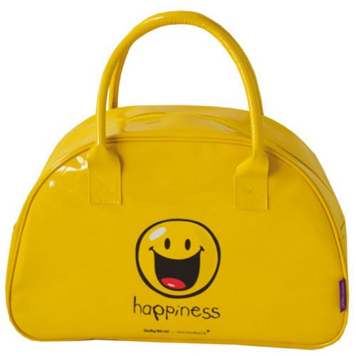 Incidence Paris Bowling Happy Colors Happiness Sac de Sport Grand Format, 40 cm, 15 L, Jaune