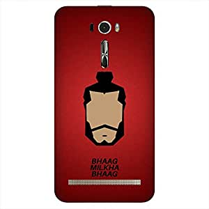Bhishoom Designer Printed Back Case Cover for Asus Zenfone 2 Laser ZE601KL (6 Inches) (Milkha Singh :: Bollywood :: Typography :: Run :: Movies)