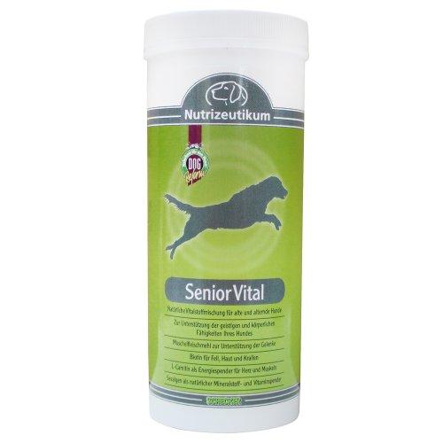 """Nutrizeutikum \""""Senior Vital\"""" 200g für die Gelenke, Fell und Haut, Herz und Muskeln Unterstützt die geistigen und körperlichen Fähigkeiten des alternden Hundes."""