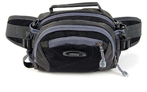 ZYT Im freien Reise Tasche Multifunktion Taschen Umhängetasche. Radfahren. laufen Sport Männer und Frauen Black