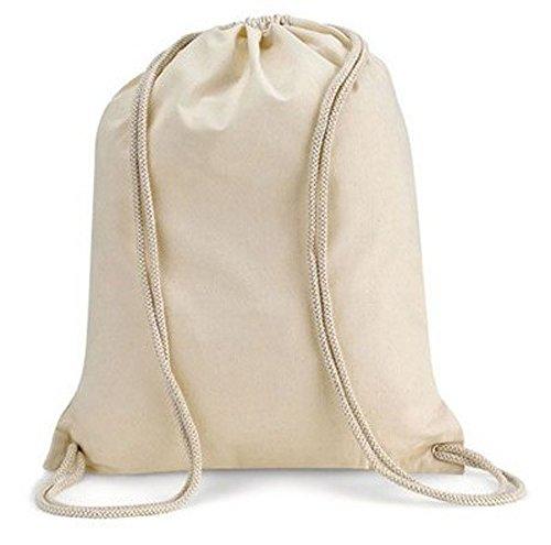 Imagen de modera  de deporte, 10bolsas, bolsa de tela de algodón con cordón, color natural, 36x 46cm alternativa