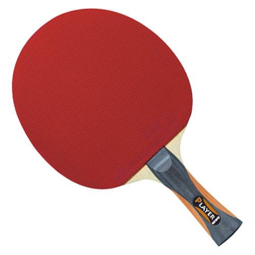 GEWO Unisex- Erwachsene Thunderball 2 hohe Kontrolle und MAXIMALER Spin Tischtennisschläger, Schwarz/Orange, One Size