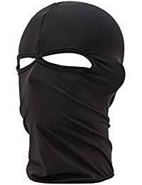 TOOGOO(R) Unisex Outdoor Motorcycle Full Face Mask Balaclava Ski Neck Protection Black