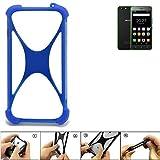 K-S-Trade Bumper Hisense Rock Lite Silikon Schutz Hülle Handyhülle Silikoncase Softcase Cover Case Stoßschutz, blau (1x)